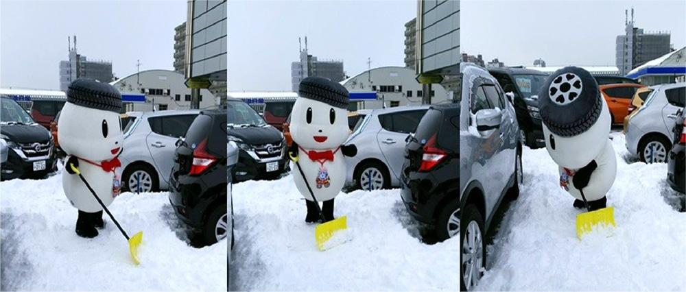 ほくにっちくん雪かきph